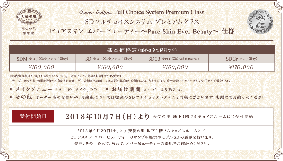 Full Choice System Premium Class ~Pure Skin Ever Beauty~ 仕様